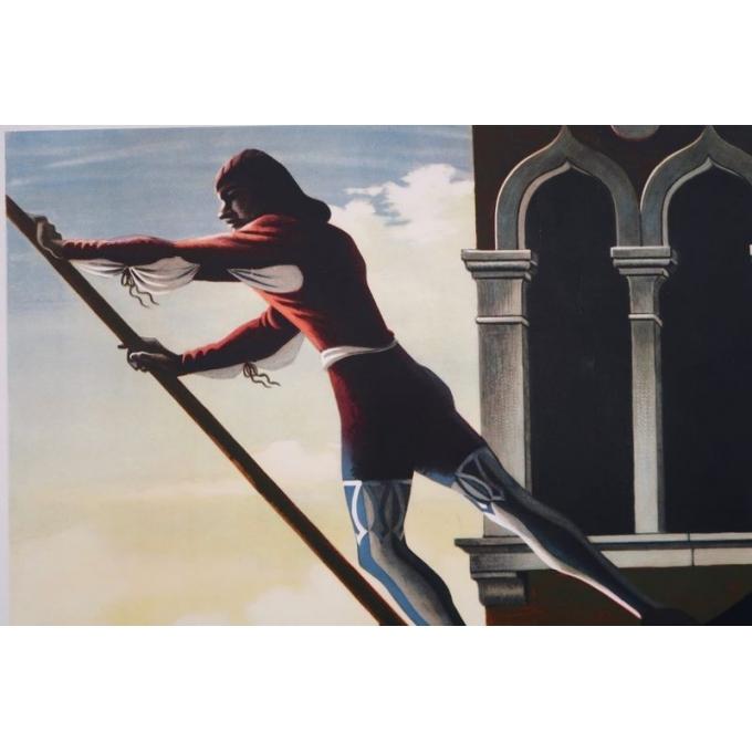 Affiche ancienne de voyage - A.M Cassandre - 1951 - Venezia - 62 x 100 cm - Vue 3