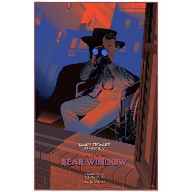 REAR WINDOW - fenêtre sur cour par Laurent Durieux - sérigraphie signée et numérotée. Elbé Paris.