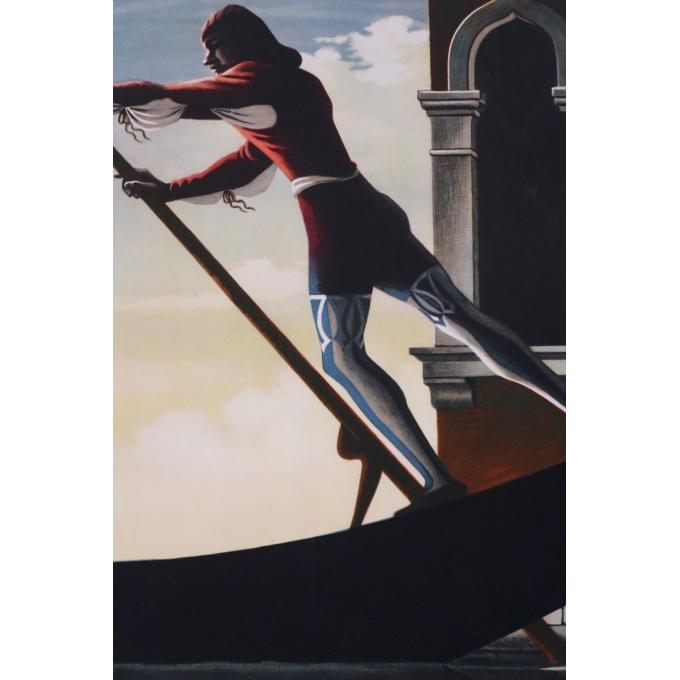 Affiche ancienne de voyage - A.M Cassandre - 1951 - Venezia - 62 x 100 cm - Vue 4