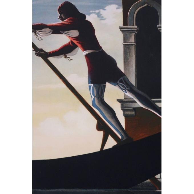Vintage travel poster - Cassandre - 1951 - Venezia - 24 by 39.3 inches - View 4