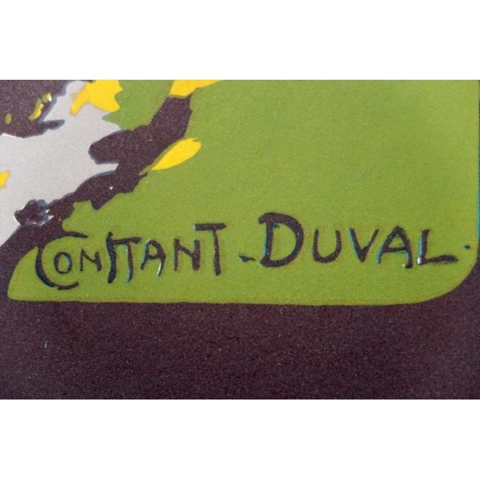 Affiche ancienne de Constant Duval - Côte d'émeraude 1920 - Imprimée par Cornille & Serre Paris - 104 par 65 cm - Vue 2
