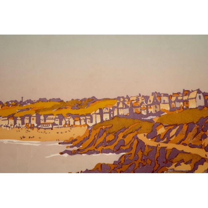 Affiche ancienne de Constant Duval - Côte d'émeraude 1920 - Imprimée par Cornille & Serre Paris - 104 par 65 cm - Vue 4