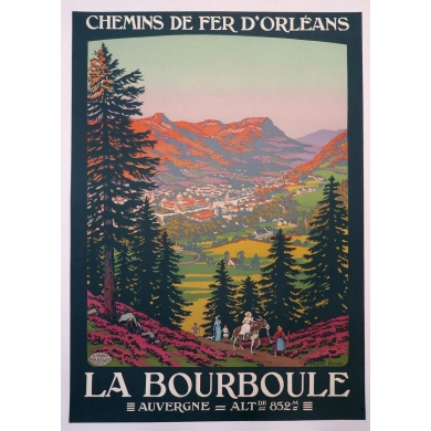Vintage travel poster La Bourboule Duval 1920 France