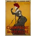 Affiche ancienne publicitaire - Leonetto Cappiello - 1902 - Champagne De Rochegré - 141 par 100 cm.