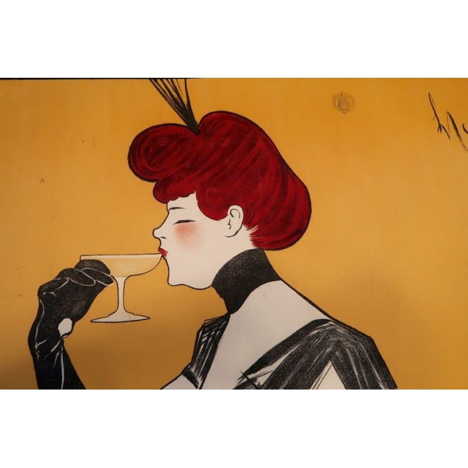 Vintage advertising poster - 1902 - Leonetto Cappiello - Champagne De Rochegré - 55.5 by 39.3 inches - View 3