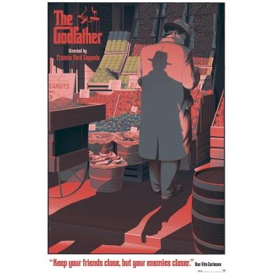 THE GODFATHER - Poster in serigraph by Laurent Durieux. Elbé Paris.