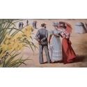 Affiche ancienne originale de Gustave Fraipont - 1896 - Plages de Bretagne - 75 par 104 cm - Vue 3