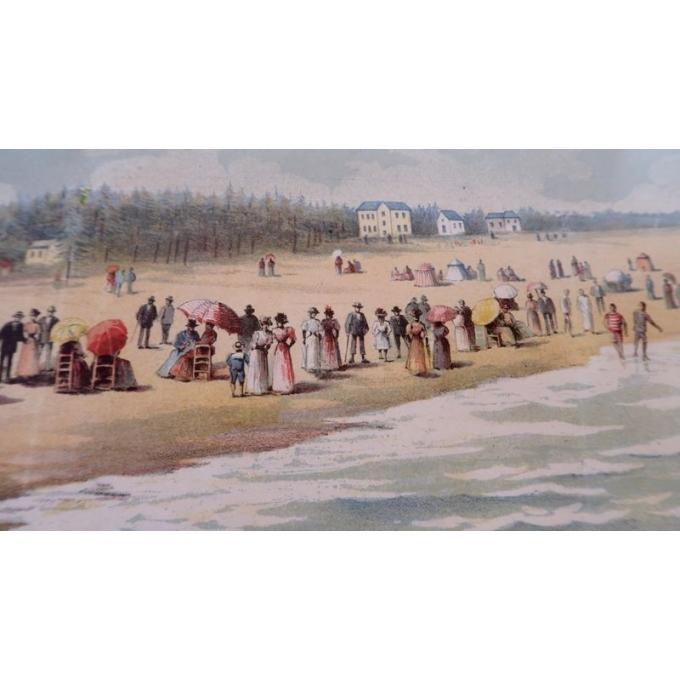 Affiche ancienne originale de Gustave Fraipont - 1896 - Plages de Bretagne - 75 par 104 cm - Vue 4