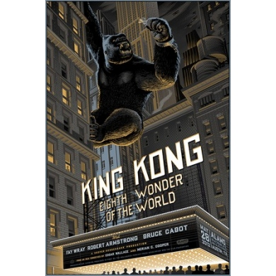 KING KONG movie silkprint from Laurent Durieux. Elbé Paris.