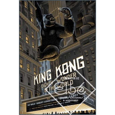 KING KONG regular - Movie silkprint from Laurent Durieux. Elbé Paris.