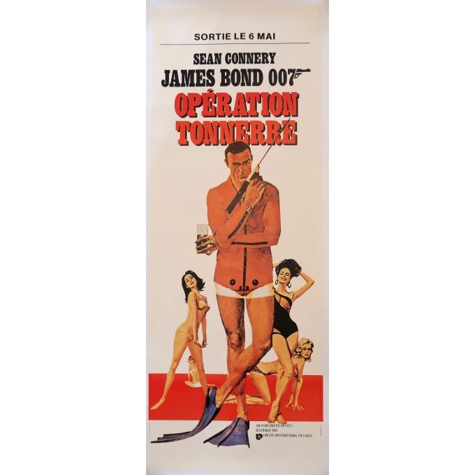 Affiche ancienne de cinéma - James Bond Opération tonnerre - 1965 - 152 par 56.5 cm