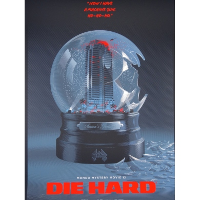Movie poster of DIE HARD in serigraph by Laurent Durieux. Elbé Paris.