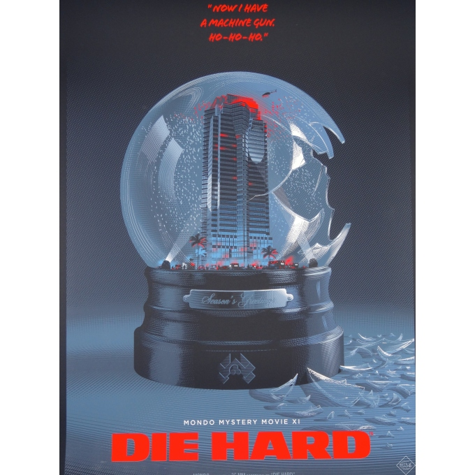 Affiche du film DIE HARD - Piège de cristal par Laurent Durieux. Elbé Paris.