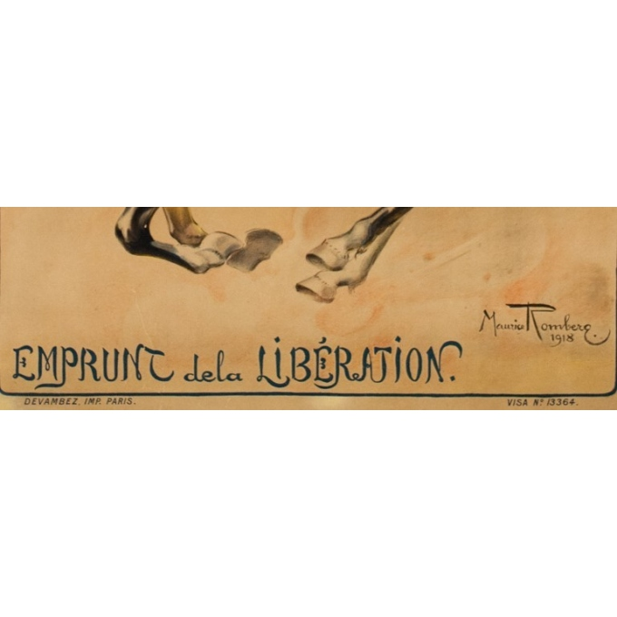 """Vintage advertising poster - 1918 - Maurice Romberg - Compagnie Algérienne - 46.46 by 30.51"""" - View 2"""