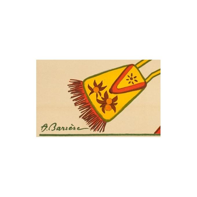 Affiche ancienne publicitaire - 1920 - Ambassadeurs - A.Barrère - 118 par 80 cm - Vue 2