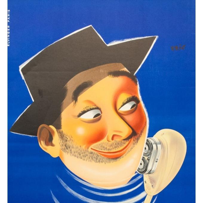 Affiche ancienne de publicité - Philips Philishave - 1955 - Eric - 116 par 77 cm - Vue2