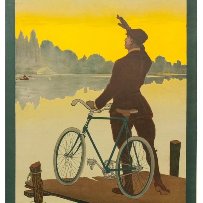 Affiche ancienne de publicité cycles Griffon - 1900 - Thor - 116.5 par 77 cm - Vue 2