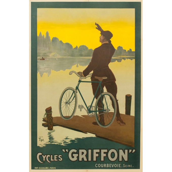 Vintage advertising poster cycles Griffon - 1900 - Thor - 45.87 by 30.31 inches