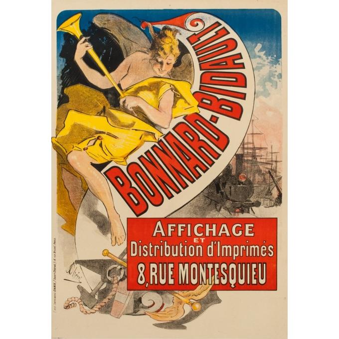 Affiche ancienne publicitaire - Jules Cherret - 1887 - Bonnard-Bidault - 123 par 87.5 cm