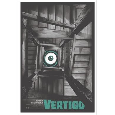 Affiche VERTIGO - Gary Pullin. Elbé Paris.