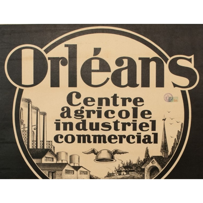 Affiche ancienne foire exposition Orléans 1927 - Guy Chabrier - 116 par 79 cm - Vue 2
