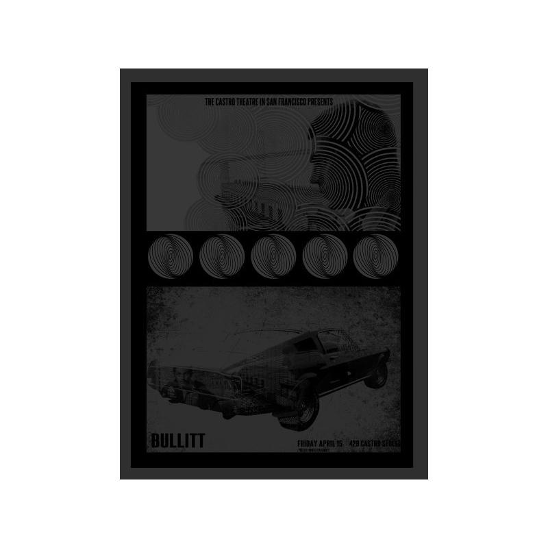 Poster of BULLIT - David O'Daniel poster in serigraph signed and numbered. Elbé Paris.