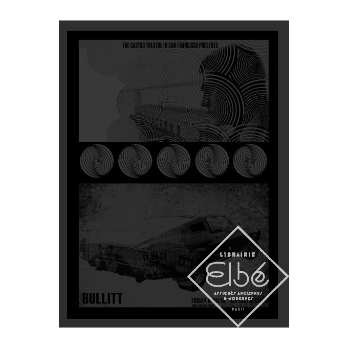 Affiche BULLIT - David O'Daniel - affiche en sérigraphie- Série limitée signée et numérotée. Elbé Paris.