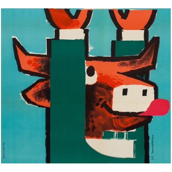 Affiche ancienne publicité - viande hachée - G.C Rousseau - 1955 - 113 x 79.5 cm - Vue 3