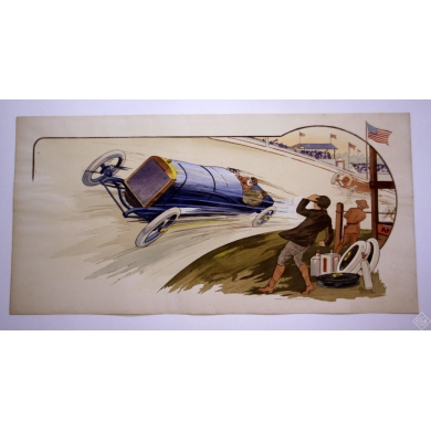 MONTAUT - Indianapolis - Peugeot 1913