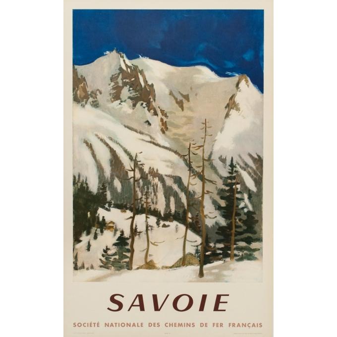 Affiche ancienne de voyage - SNCF - Fontanarosa - Savoie - 99 par 62 cm