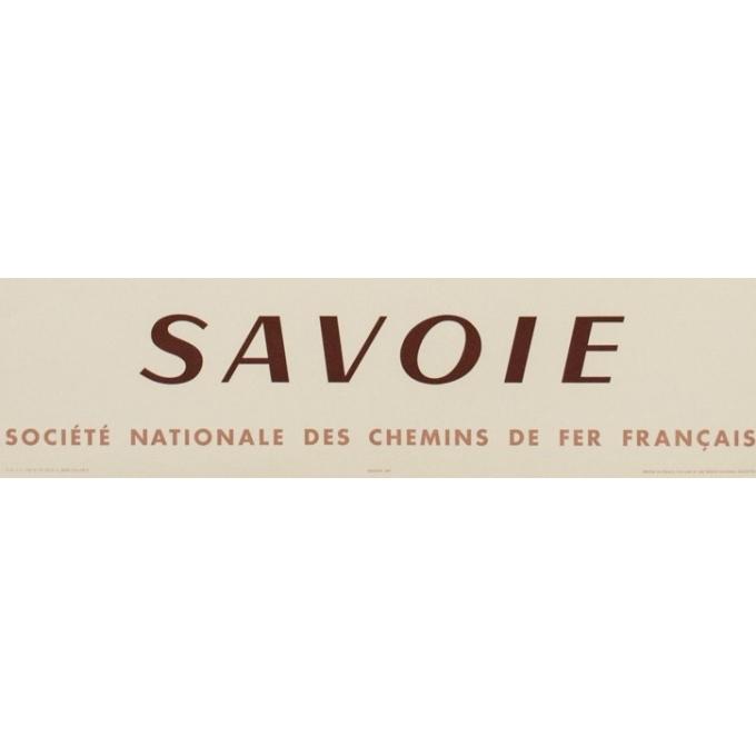 Affiche ancienne de voyage - SNCF - Fontanarosa - Savoie - 99 par 62 cm - Vue 3