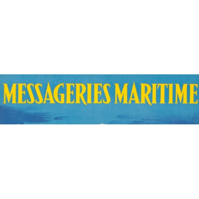 Vintage travel poster - Jean Desaleux - 1955 - Messagerie Maritime - 39.37 by 24.61 inches - View 4