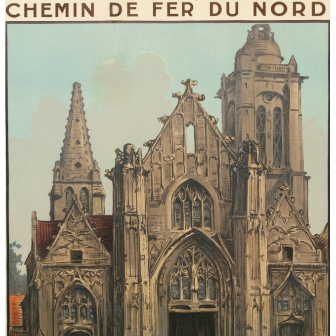 Vintage french travel poster - Charles Hallaut - 1920 - Senlis - 41.14 by 29.13 inches - view 2