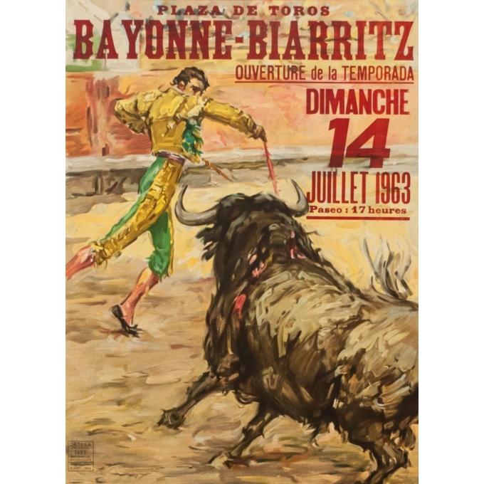 Vintage poster - J.Reuz - 1963 - Grande Corida de Gala - 41.54 by 20.67 inches - View 2