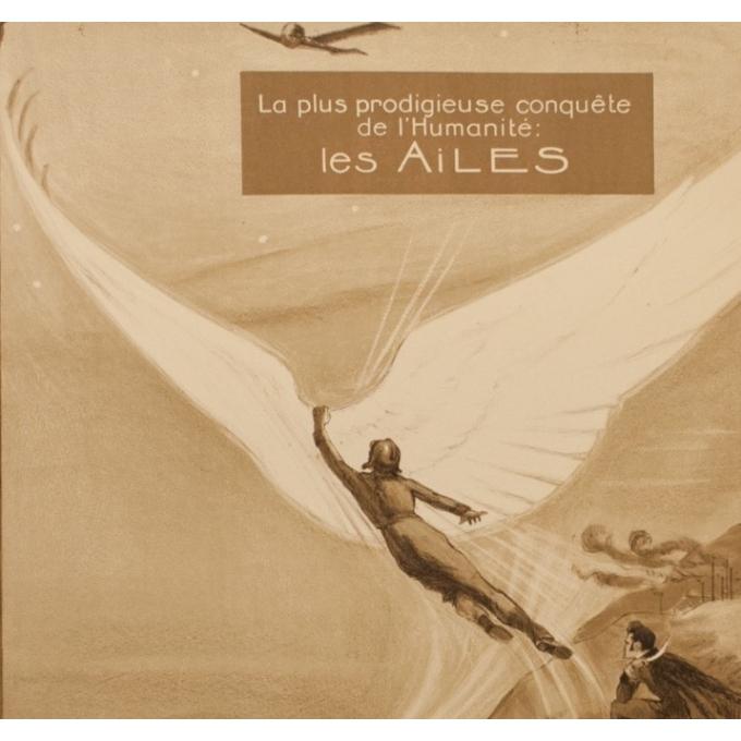 Affiche ancienne publicité - Georges Villa - 1922 - Les Ailes - 114.5 par 75 cm - Vue 2