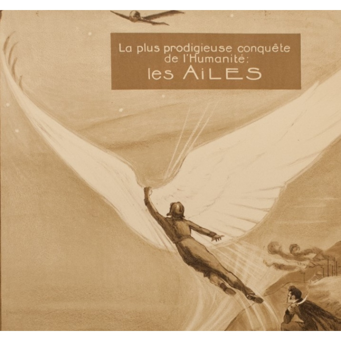 Vintage advertising poster - Georges Villa - 1922 - Les Ailes - 45.08 by 29.53 inches - View 2