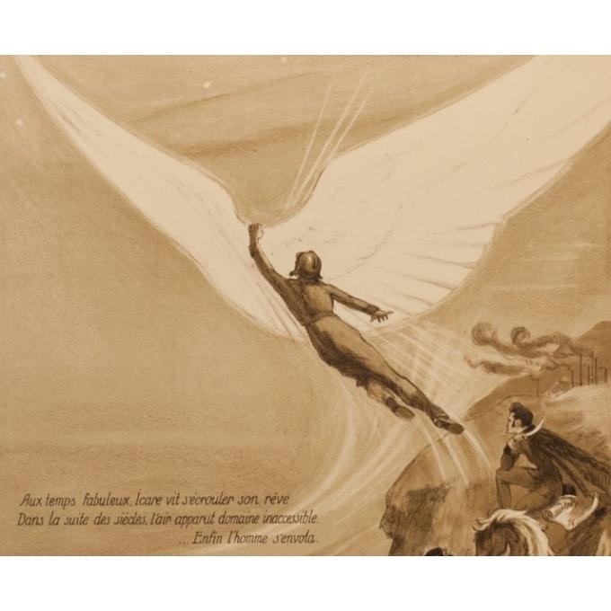 Affiche ancienne publicité - Georges Villa - 1922 - Les Ailes - 114.5 par 75 cm - Vue 3