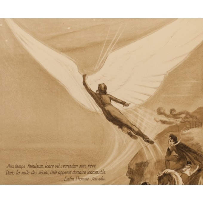 Vintage advertising poster - Georges Villa - 1922 - Les Ailes - 45.08 by 29.53 inches - View 3
