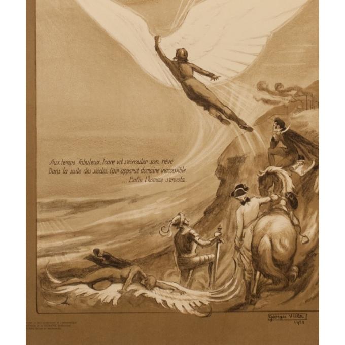Affiche ancienne publicité - Georges Villa - 1922 - Les Ailes - 114.5 par 75 cm - Vue 4