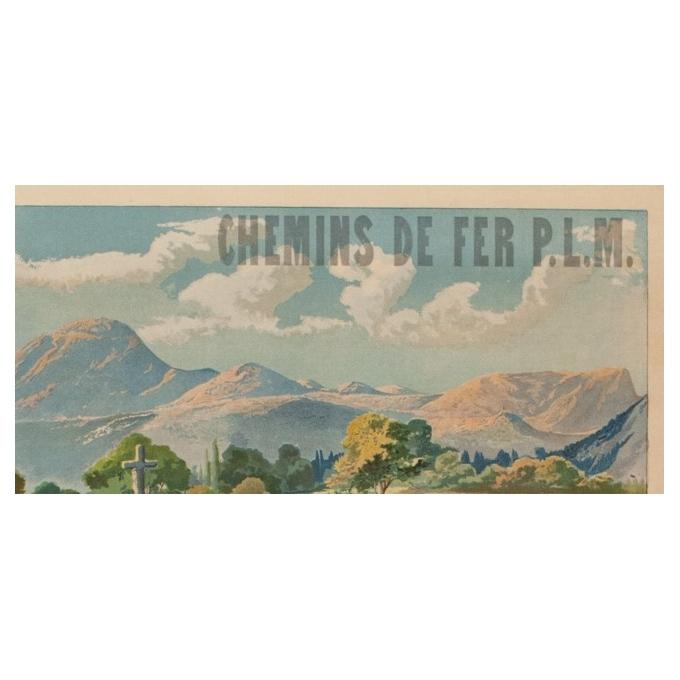 Affiche ancienne de voyage - Tanconville - Chatel Guyon les Bains - 1898 - 108 par 74 cm - Vue 2