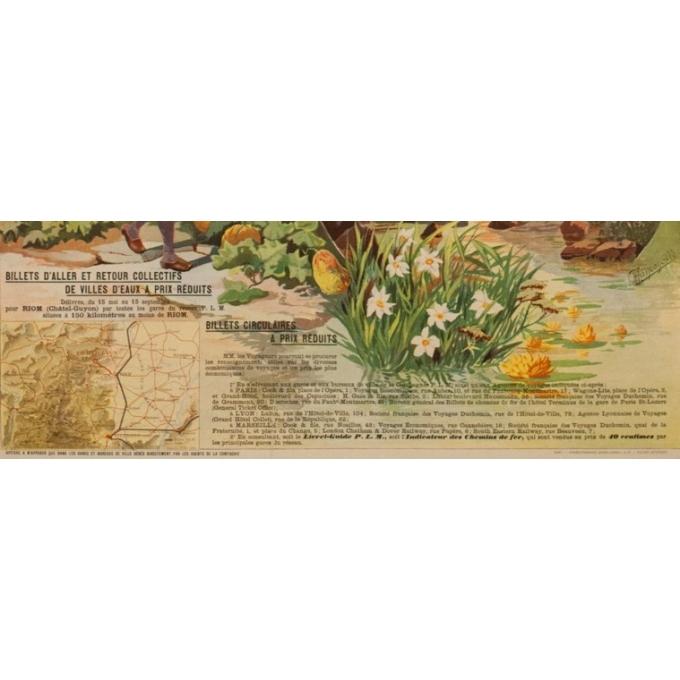 Affiche ancienne de voyage - Tanconville - Chatel Guyon les Bains - 1898 - 108 par 74 cm - Vue 4