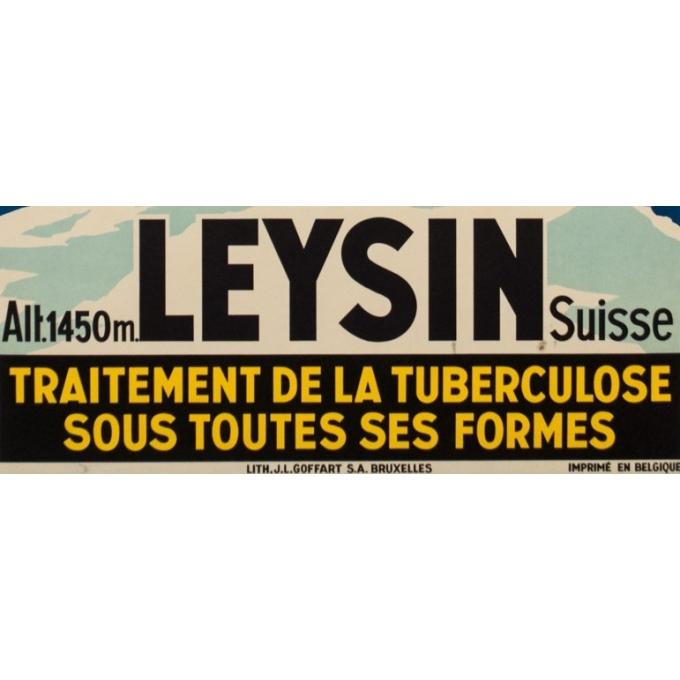 Affiche ancienne publicité - Jacomo - 1930 - Leysin Suisse - 100 par 62.5 cm - Vue 3