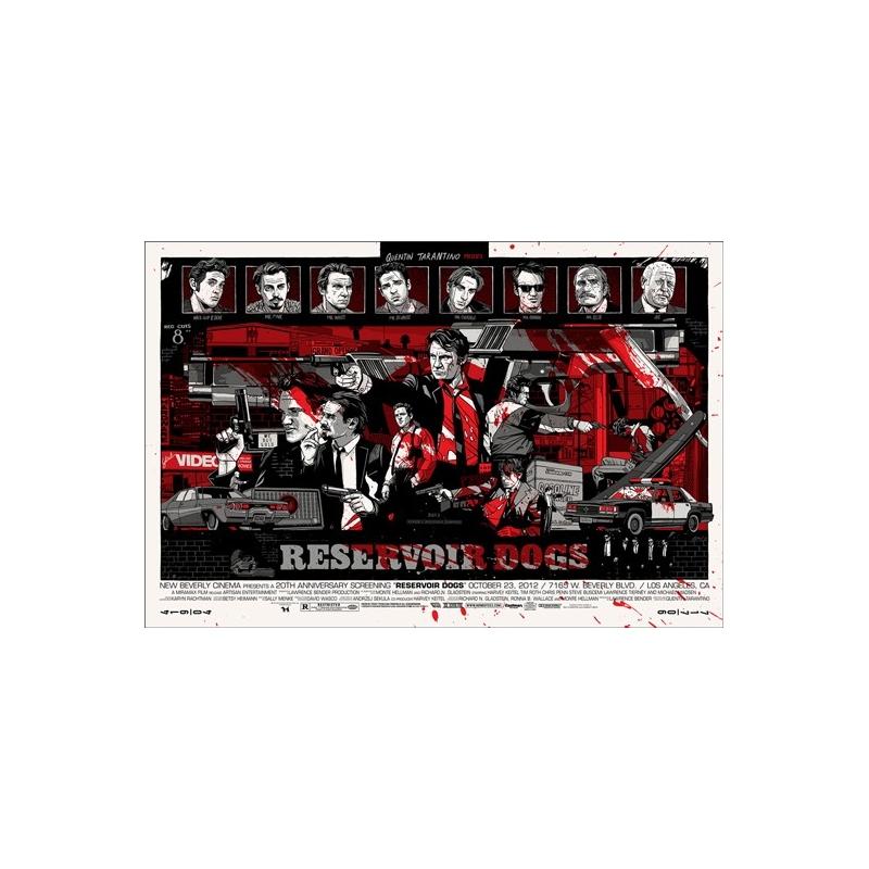 Serigraph of Tyler Stout - Reservoir Dogs. Elbé Paris.