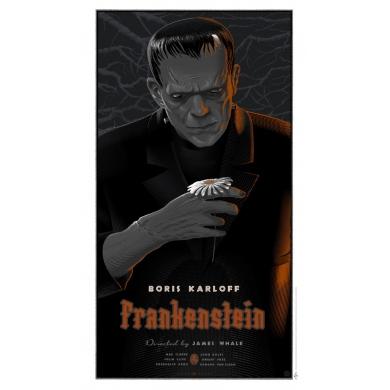 Original poster of FRANKENSTEIN by Laurent Durieux. Elbé Paris.