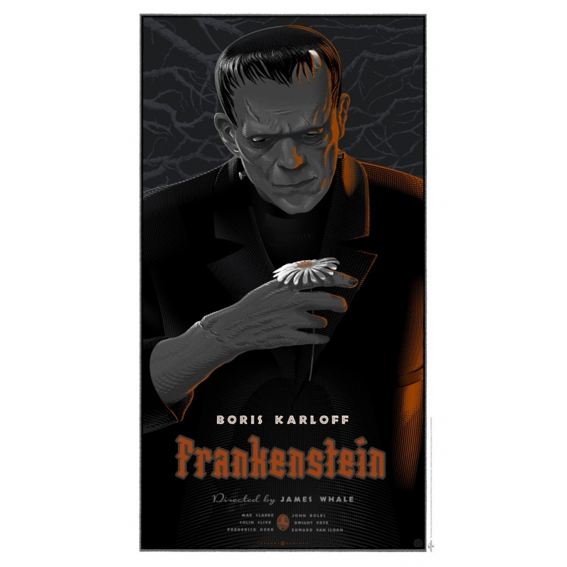 Affiche FRANKENSTEIN par Laurent Durieux. Elbé Paris.