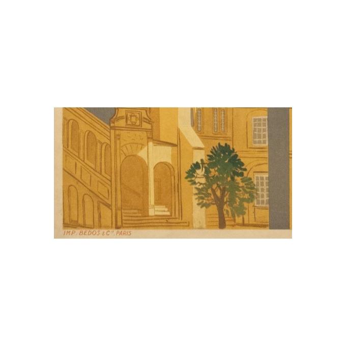 Affiche ancienne de voyage - Dijon - 1950 - Beuville - 79.5 par 61.5 cm - Vue 4