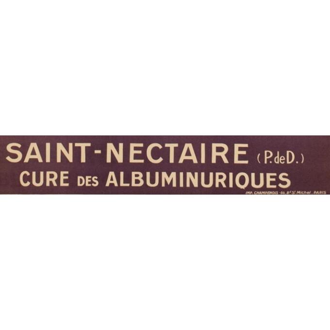Affiche ancienne voyage - H.Izan d'Agle - 1920 - Saint Nectaire - 104 x 77 cm - Vue 3