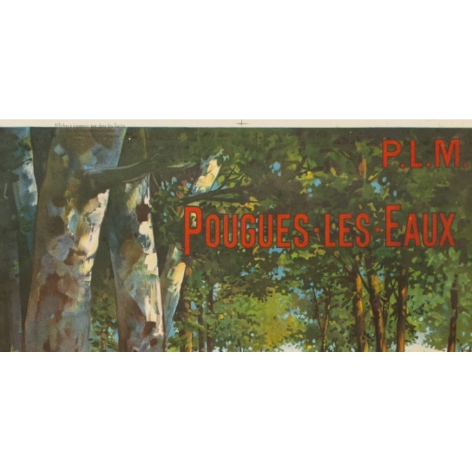Vintage travel poster PLM - F.Hugo d'Alesi - Pougues les Eaux - 41.54 by 28.94 inches - view 2