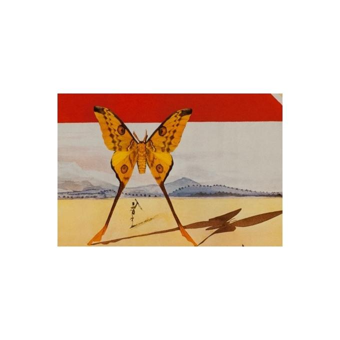 Affiche originale de voyage - Dali - 1970 - Roussillon French Railways - 99 par 62.5 cm - Vue  3