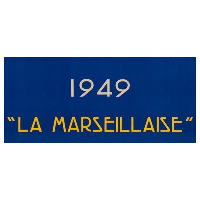 Affiche ancienne voyage - Messagerie Maritime - R.Souli - 1949 - La Marseillaise - 98 par 61.5 cm - Vue 3